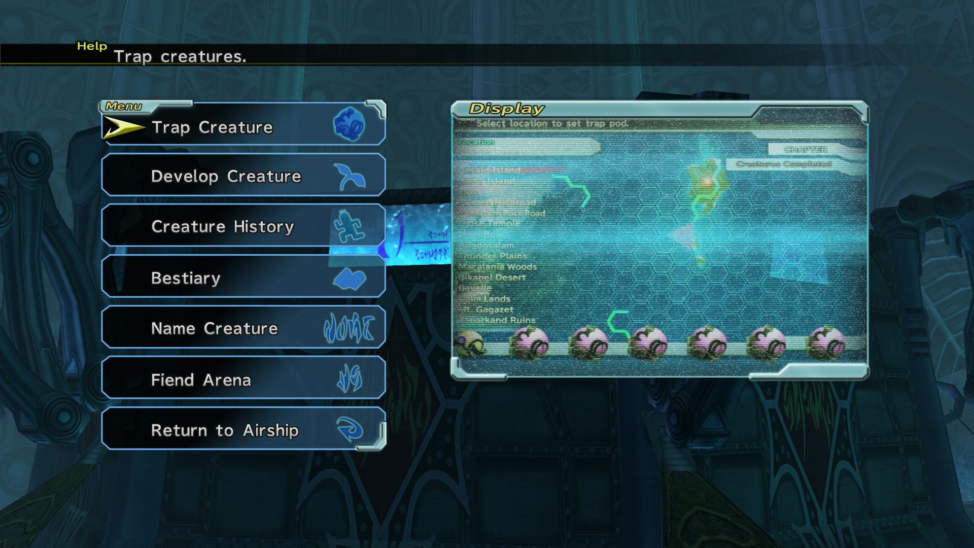 Image - FFX-2 Creature Creator Menu.png | Final Fantasy Wiki | FANDOM  powered by Wikia - Menu HD PNG