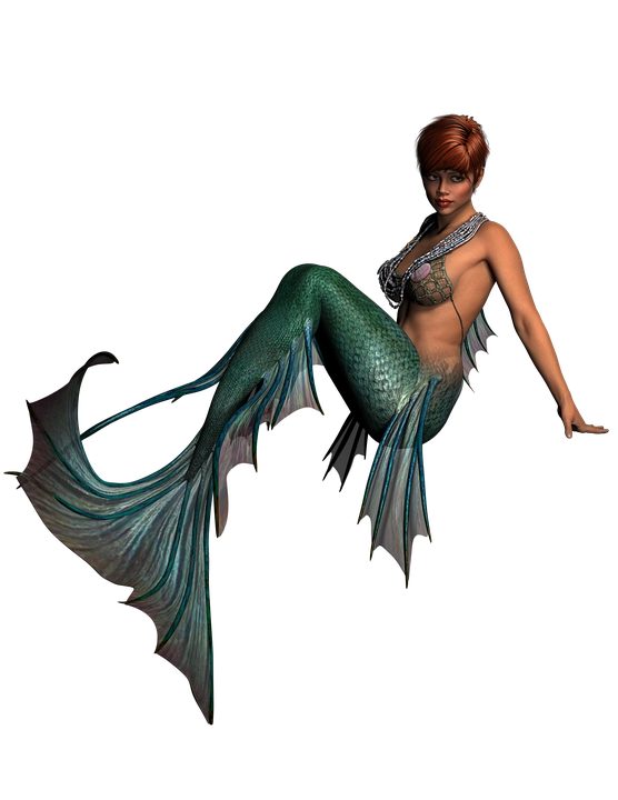 mermaid lady fantasy woman girl portrait model - Mermaid PNG