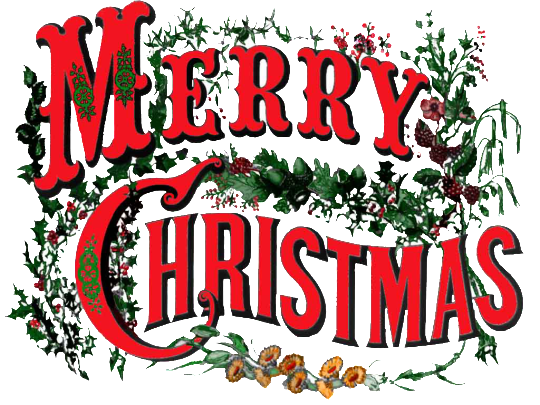 Merry Christmas Text PNG - 16076