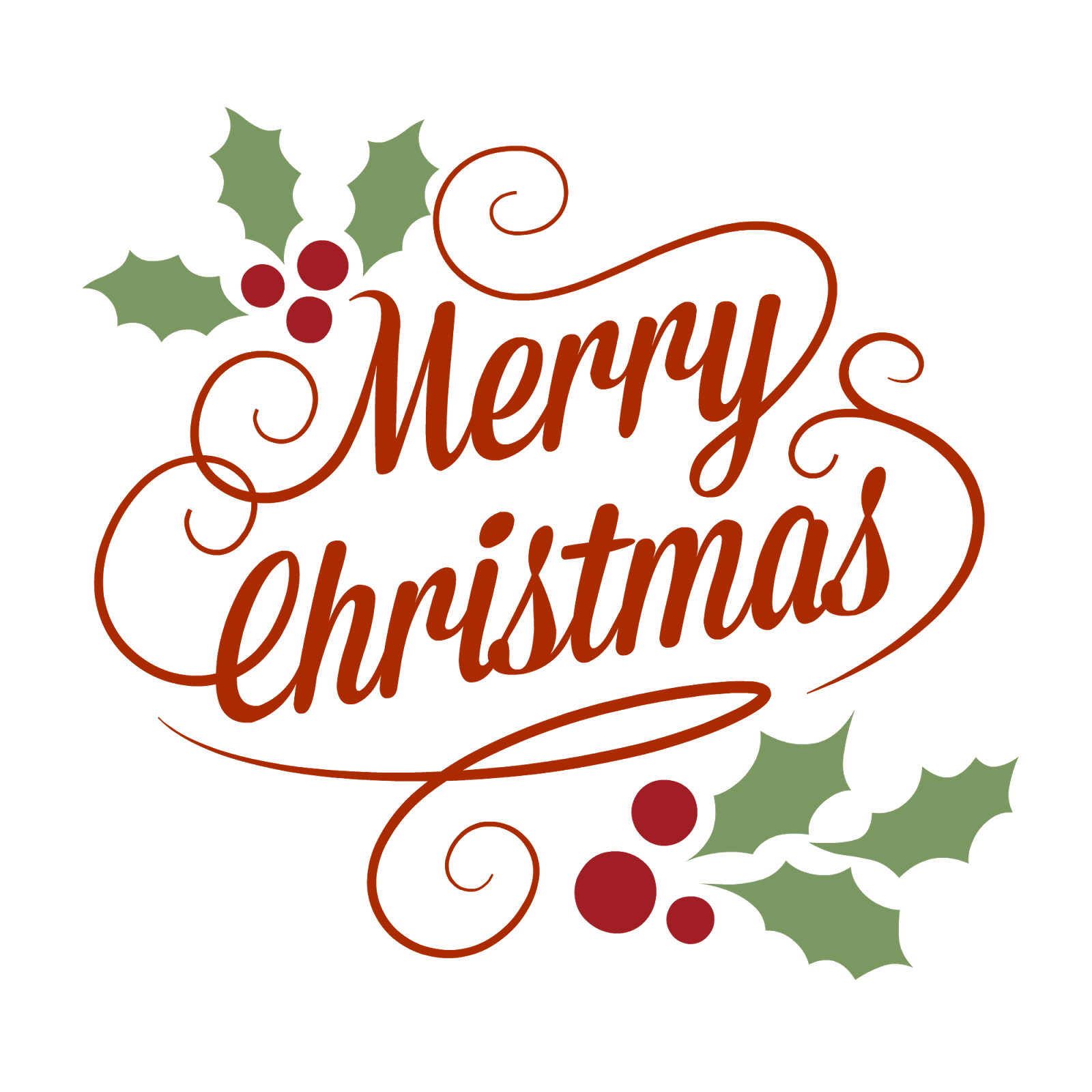 Christmas Pictures - Merry Christmas Text PNG