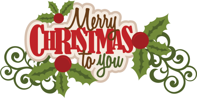 Merry Christmas Text PNG - 16083