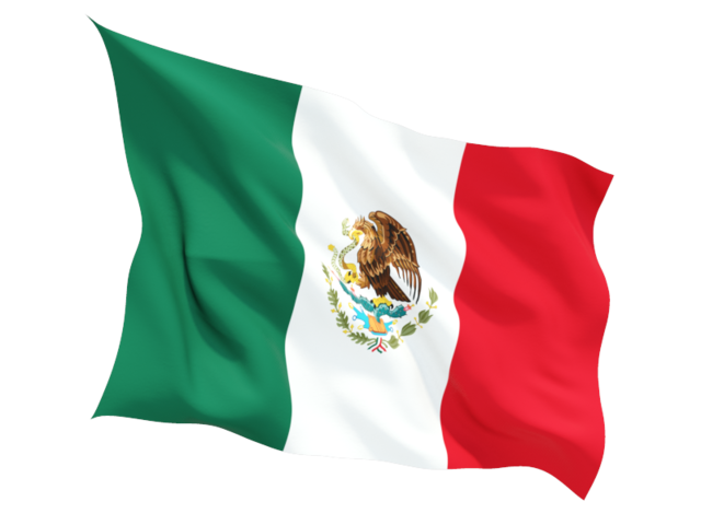 Mexican Flag PNG HD - 123837