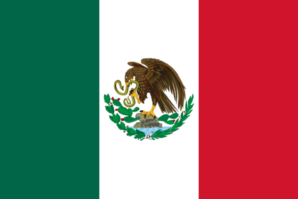 Mexican Flag PNG HD - 123838