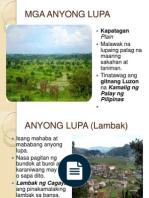 Anyong Lupa - Mga Anyong Lupa PNG