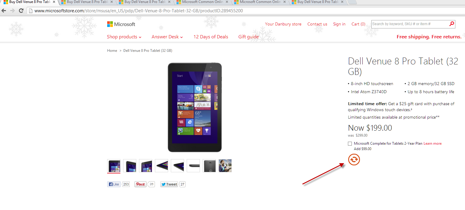 dell-venue-8-pro-microsoft-store.png - Microsoft PNG HD Website