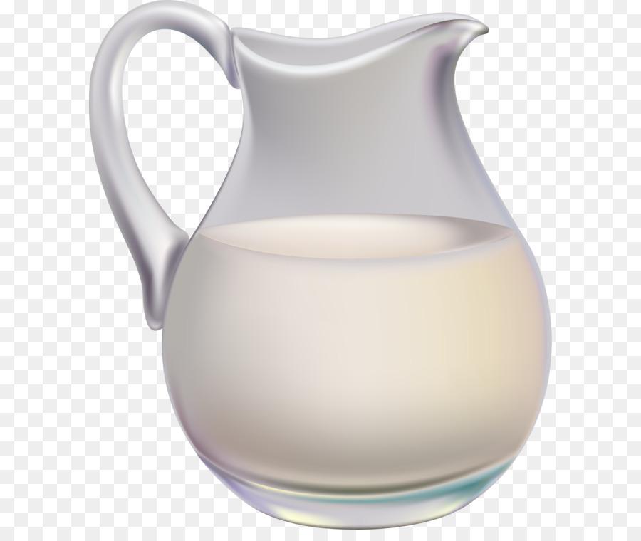 Kefir Cowu0027s milk Cream Pitcher - milk jar PNG - Milk Jug PNG HD