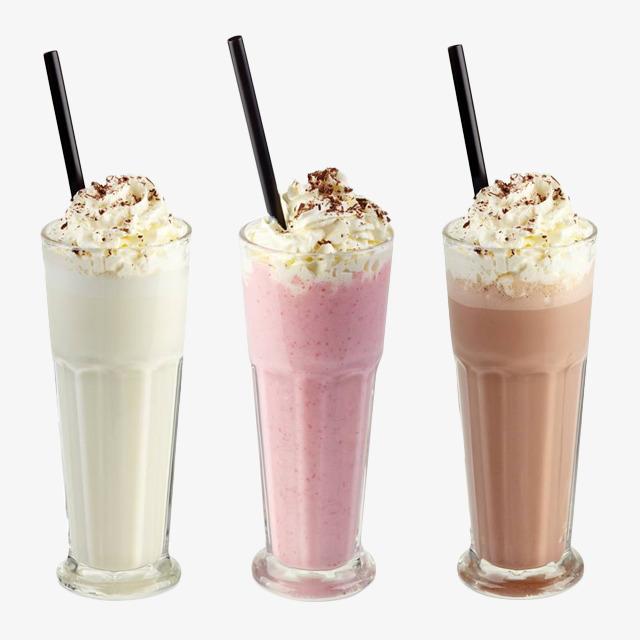 Three cups of milk shake, Vanilla Milkshake, Milkshake, Ice Cream Free PNG  Image - Milkshake PNG HD