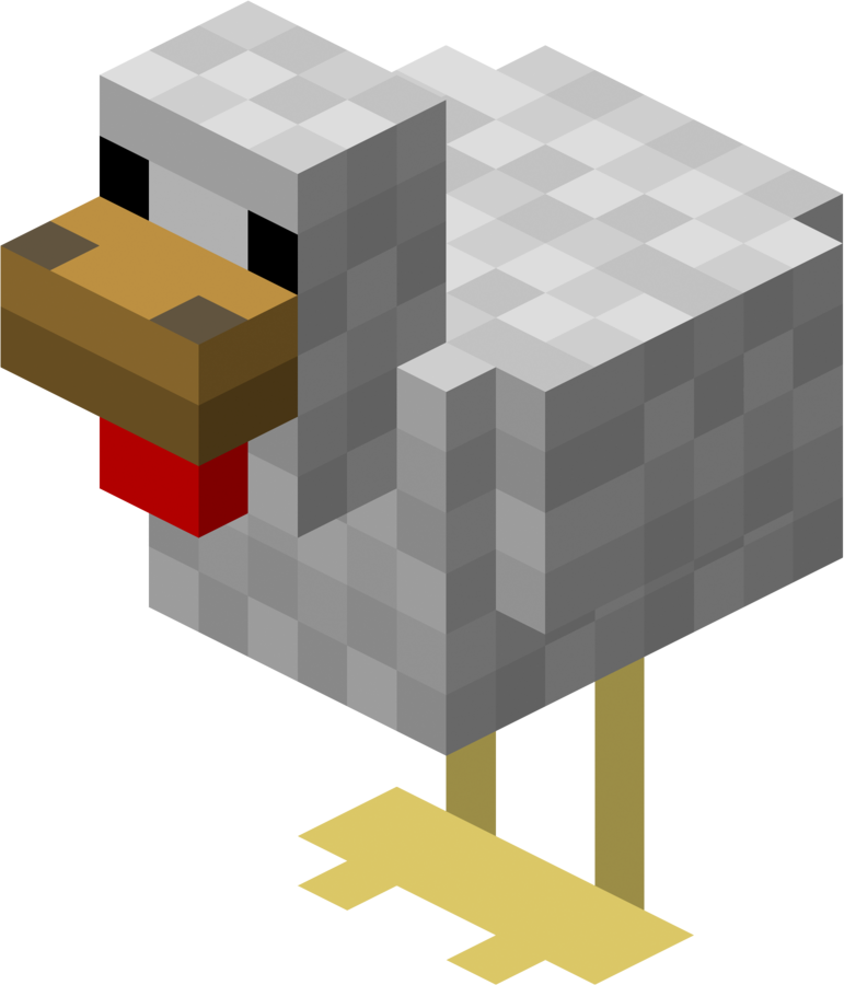 Minecraft Chicken Png PNG Image - Minecraft PNG