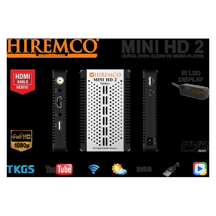 Hiremco Mını Hd 2 Medya Oynatıcı FullHD Dijital Uydu Alıcısı - Mini HD PNG