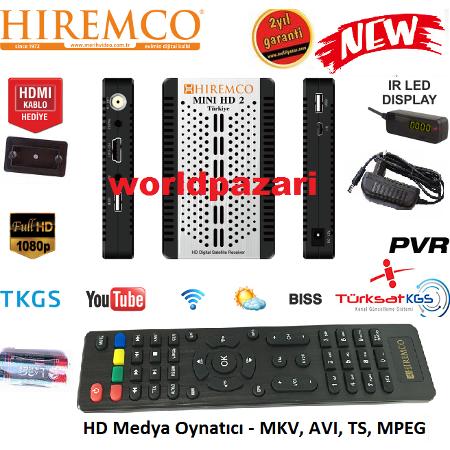 HIREMCO MİNİ HD UYDU ALICISI 3D UYUMLU TÜRK MALI - Mini HD PNG
