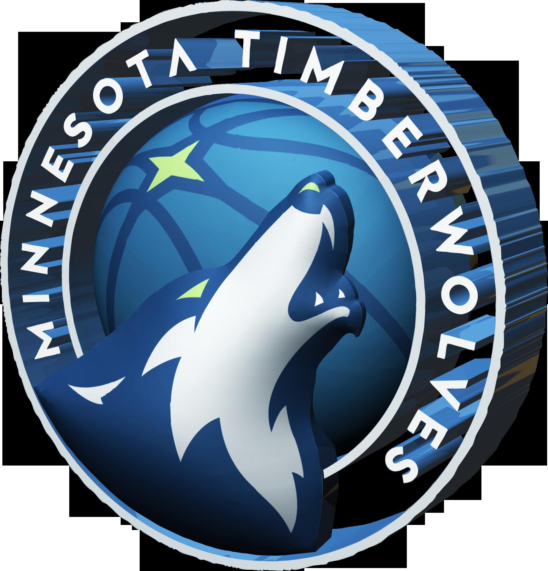 Minnesota Timberwolves 2017-2018 3D Logo - Minnesota Timberwolves PNG