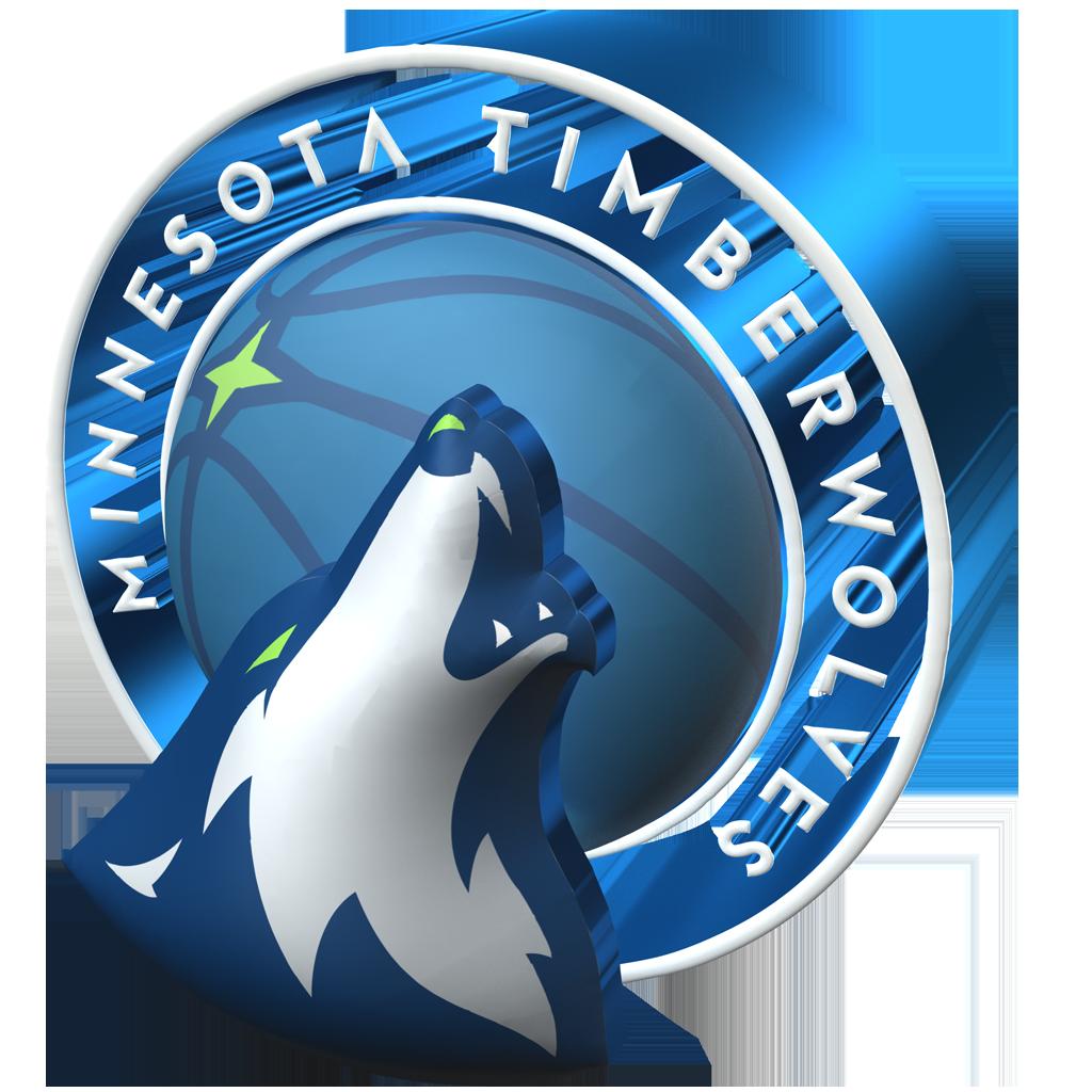 Minnesota Timberwolves 2017-2018 3D Logo (Alternate) - Minnesota Timberwolves PNG
