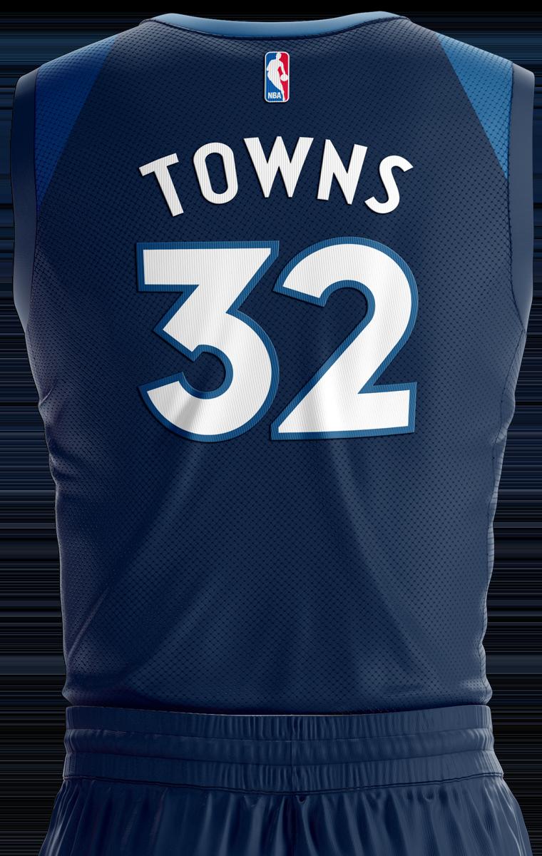 Minnesota Timberwolves Icon Edition Jersey Back - Minnesota Timberwolves PNG