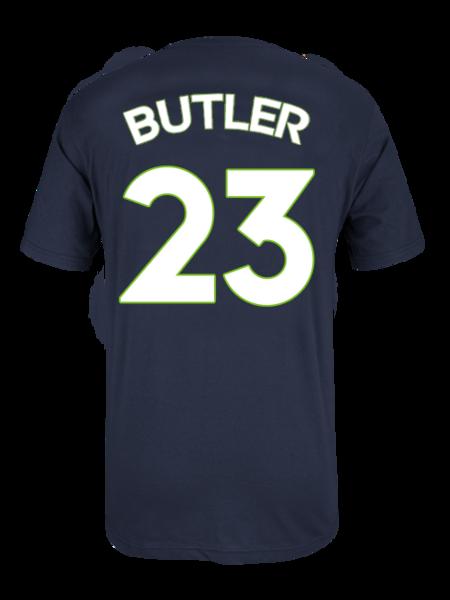 Minnesota Timberwolves Jimmy Butler Player Name u0026 Number T-Shirt - Navy - Minnesota Timberwolves PNG