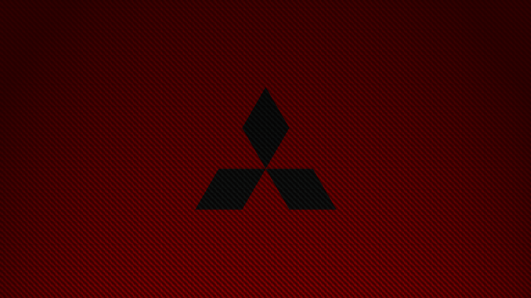 Mitsubishi, Carbon Fiber, Logo, Car, Brands, Red, Simple HD Wallpaper - Mitsubishi HD PNG