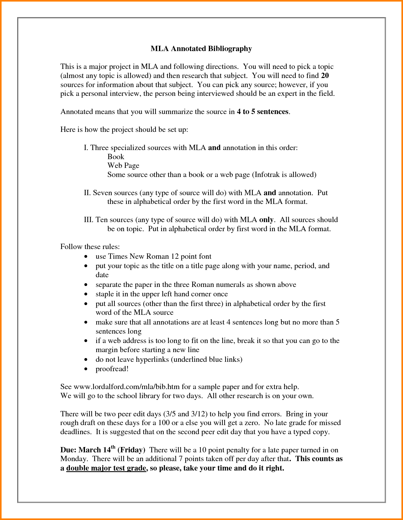 Annotated Bibliography Mla Format.Center The Title 1024×583.png - Mla PNG