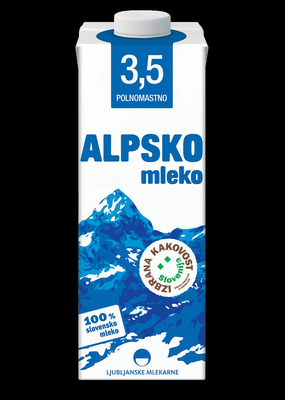 Alpsko mleko s 3,5 % m.m. - Mleko PNG