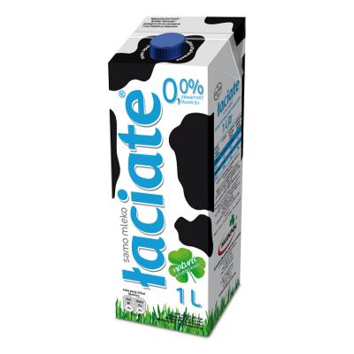 Mleko UHT Łaciate 0.0% 1L Niebieskie Mlekpol - Mleko PNG