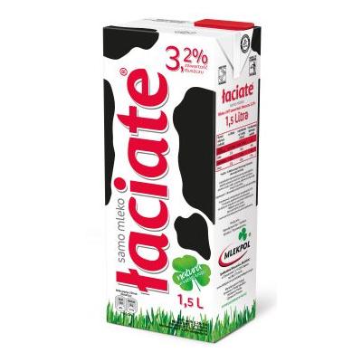 Mleko UHT Łaciate Familijne 3.2% 1.5L Czerwone Mlekpol - Mleko PNG