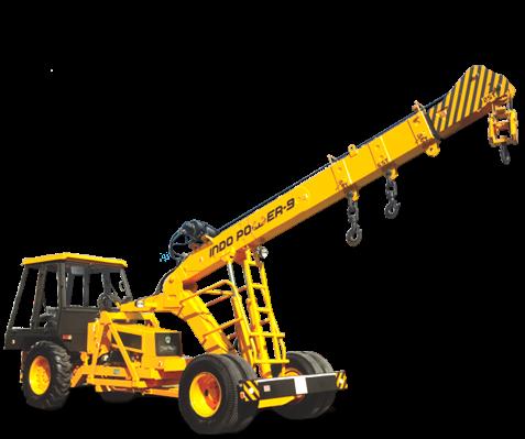 Indo Power-9 Pick u201cNu201d Carry Hydraulic Mobile Crane (9 ton) - Mobile Crane PNG