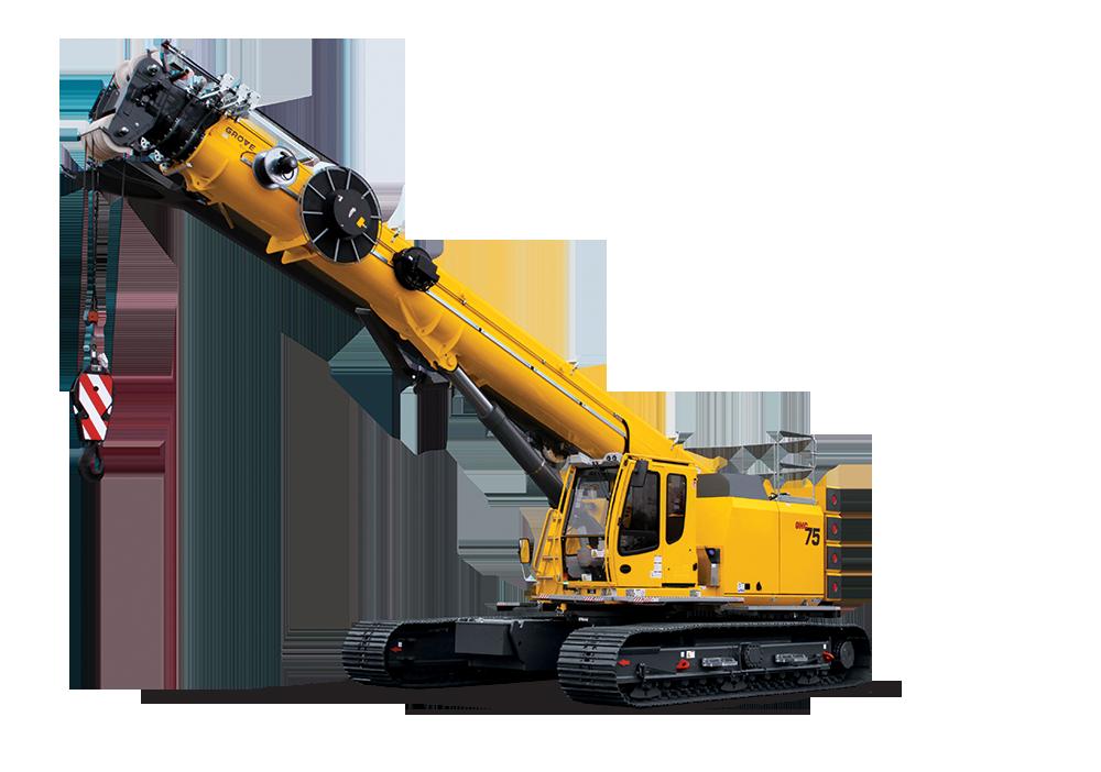 Telescopic Crawlers - Mobile Crane PNG