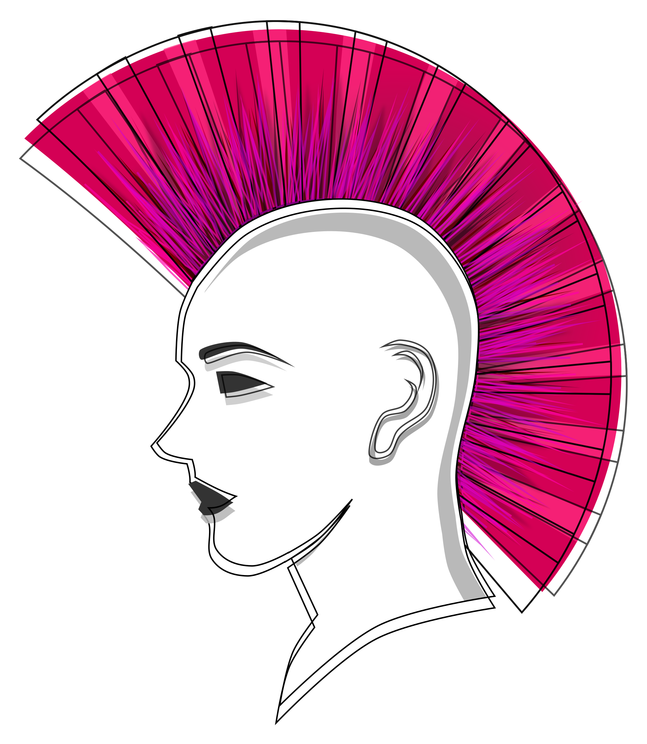 BIG IMAGE (PNG) - Mohawk Hair PNG