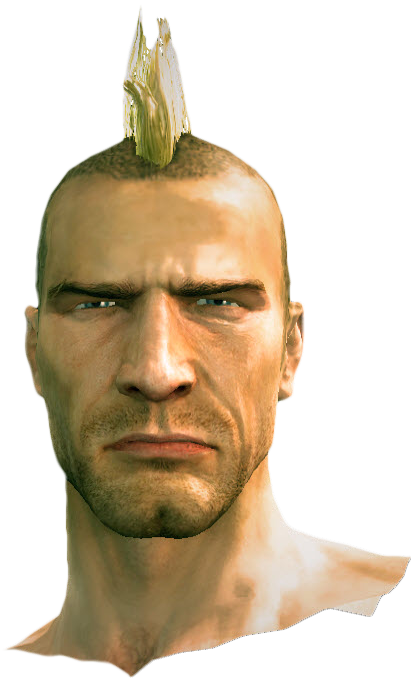 Dead rising Mohawk Hair.png - Mohawk Hair PNG