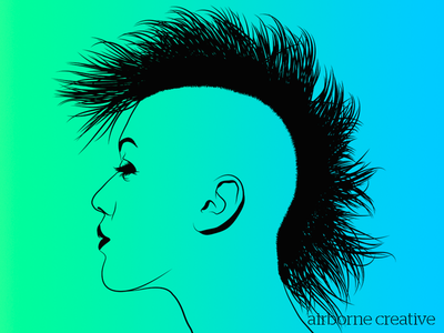 Going a little nutz on a mohawk in Illustrator CS. Could be time to bring  back the style. Thinking about adding some little extras. - Mohawk Hair PNG