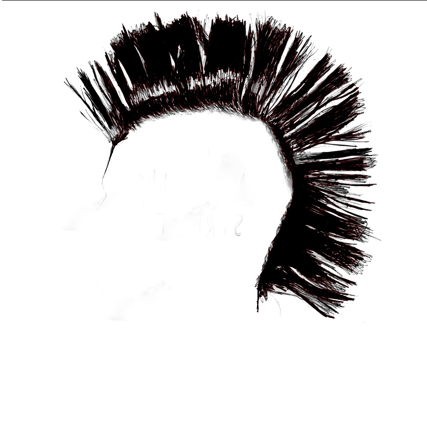Mohawk Street Productions - Mohawk Hair PNG