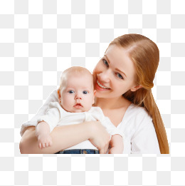 Mother holding a baby. PNG