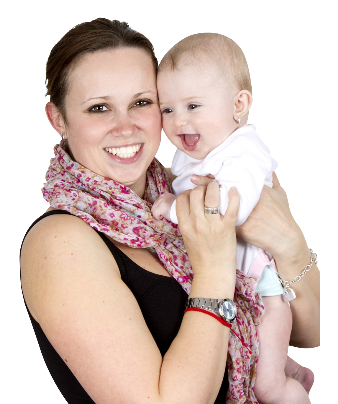 Mother Holding Sweet Baby PNG