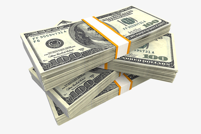 A Wad Of Dollar Bills, Dollar, Bank Note, Money PNG Image And Clipart - Money Bills PNG