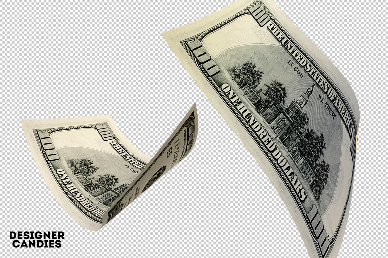 Falling Dollar Bills - Money Bills PNG