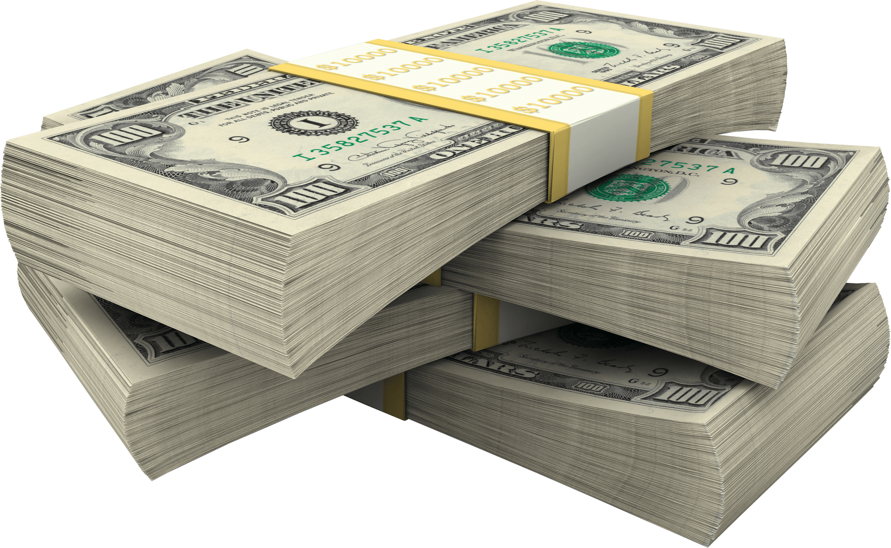 Stack Of Dollar Bills Money - Money Bills PNG