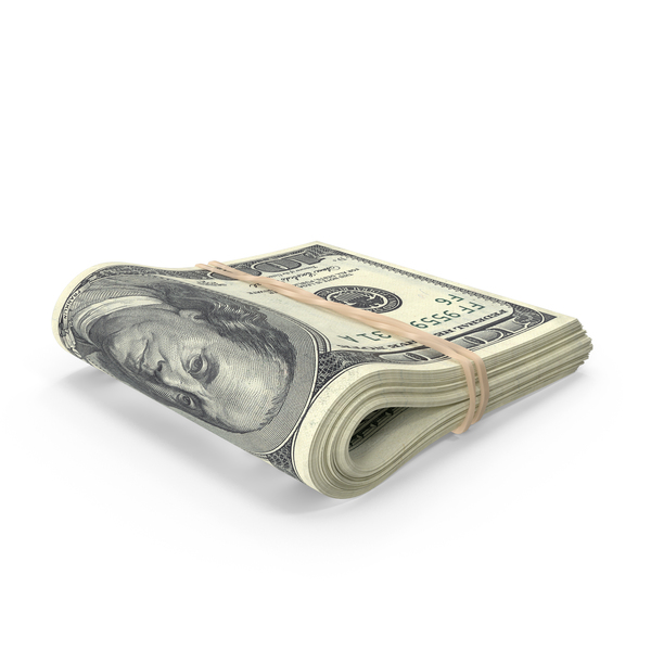 US 100 Dollar Bill Folded - Money Bills PNG