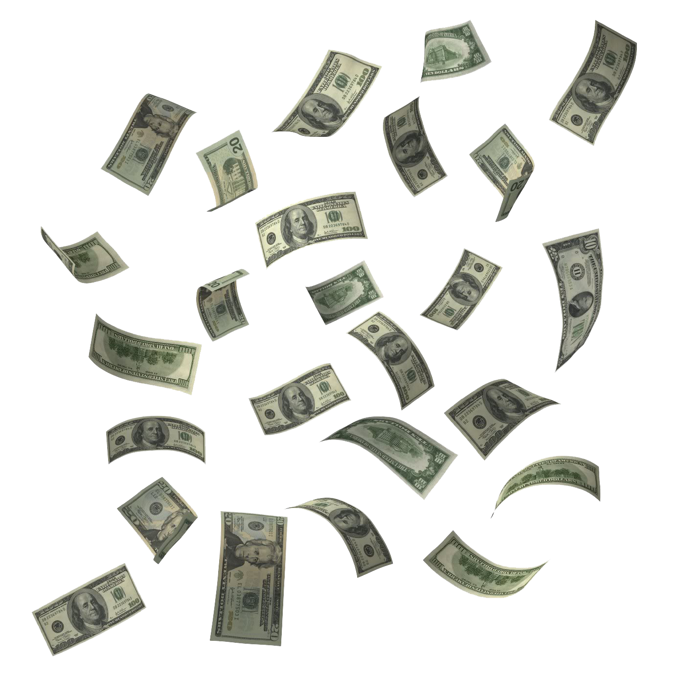 Flying Dollars PNG HD - Money HD PNG