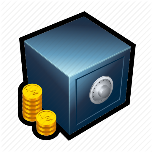 bank, coin, gold, monetary, money, treasure, vault icon - Money Vault PNG