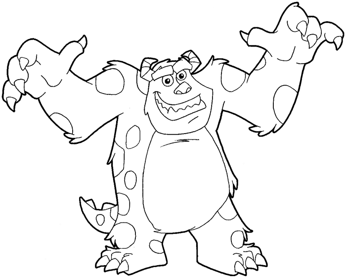 Monster Inc PNG Black And White - 52574