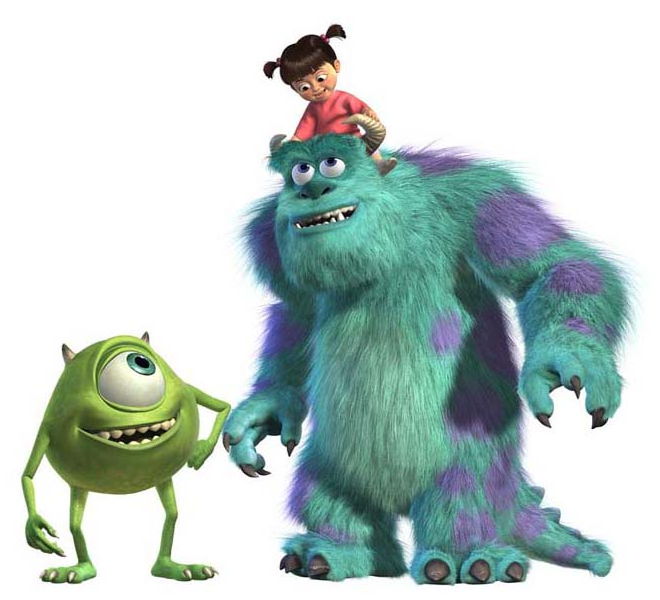 Boou0026sulleyu0026mike.png - Monsters Inc Characters PNG