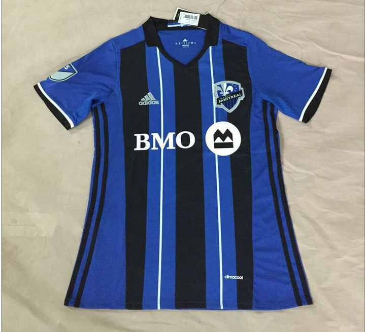 Montreal Impact 2016-17 Home Soccer Jerseys - Montreal Impact PNG