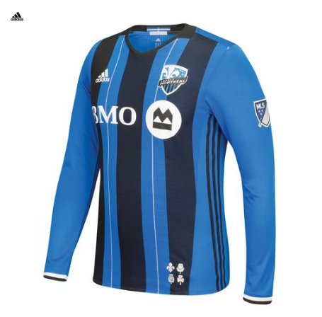 Montreal Impact Home Shirt Long Sleeve - Authentic - Montreal Impact PNG