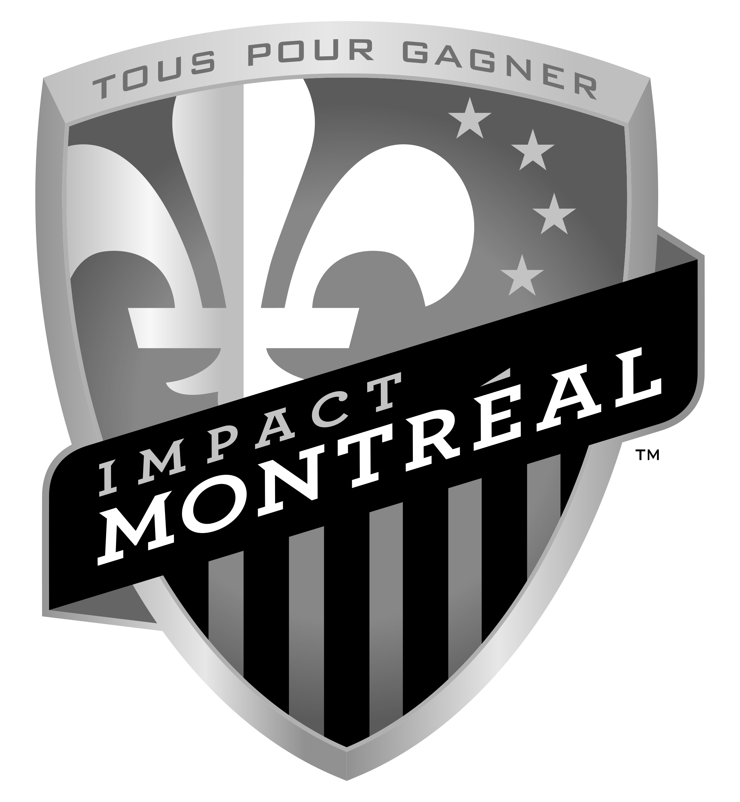 Montreal Impact logo black and white - Montreal Impact PNG