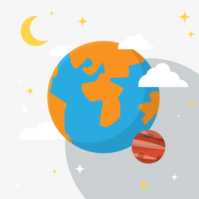 Vector Earth Moon, Hd, Vector, Star PNG and Vector - Moon And Star PNG HD