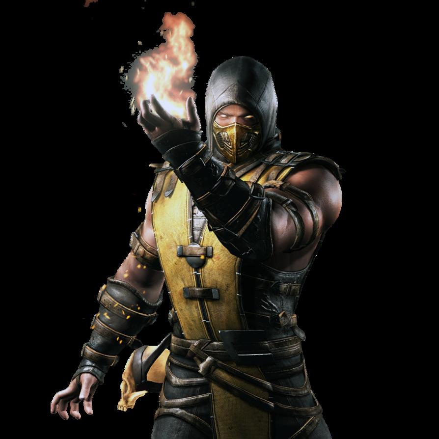 Mortal kombat x ios scorpion render 2 by wyruzzah-d8p0m11.png - Mortal Kombat X PNG