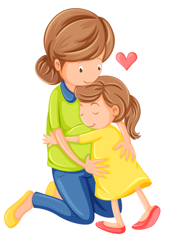 Buy Love Of A Mother And Daughter By Interactimages On GraphicRiver.  Illustration Of A Love Of A Mother And A Daughter On A White Background - Mother And Daughter Hug PNG