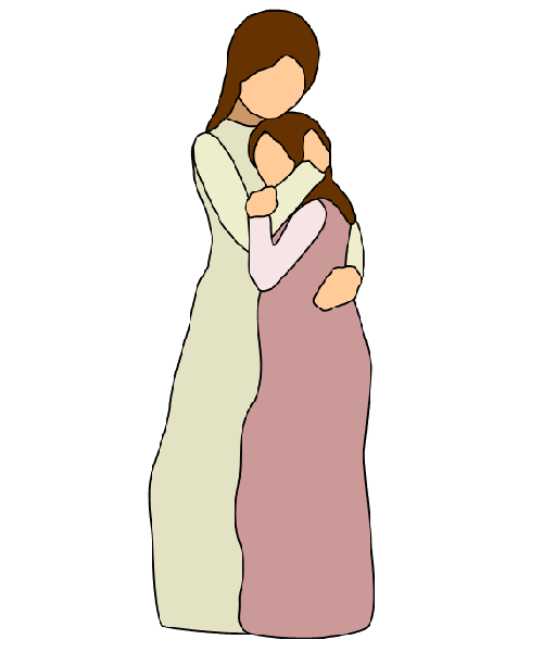 Mother Daughter Hug - Mother And Daughter Hug PNG