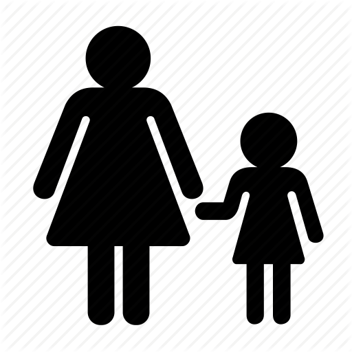 daughter, family, mother, navigation icon - Mother And Daughter PNG