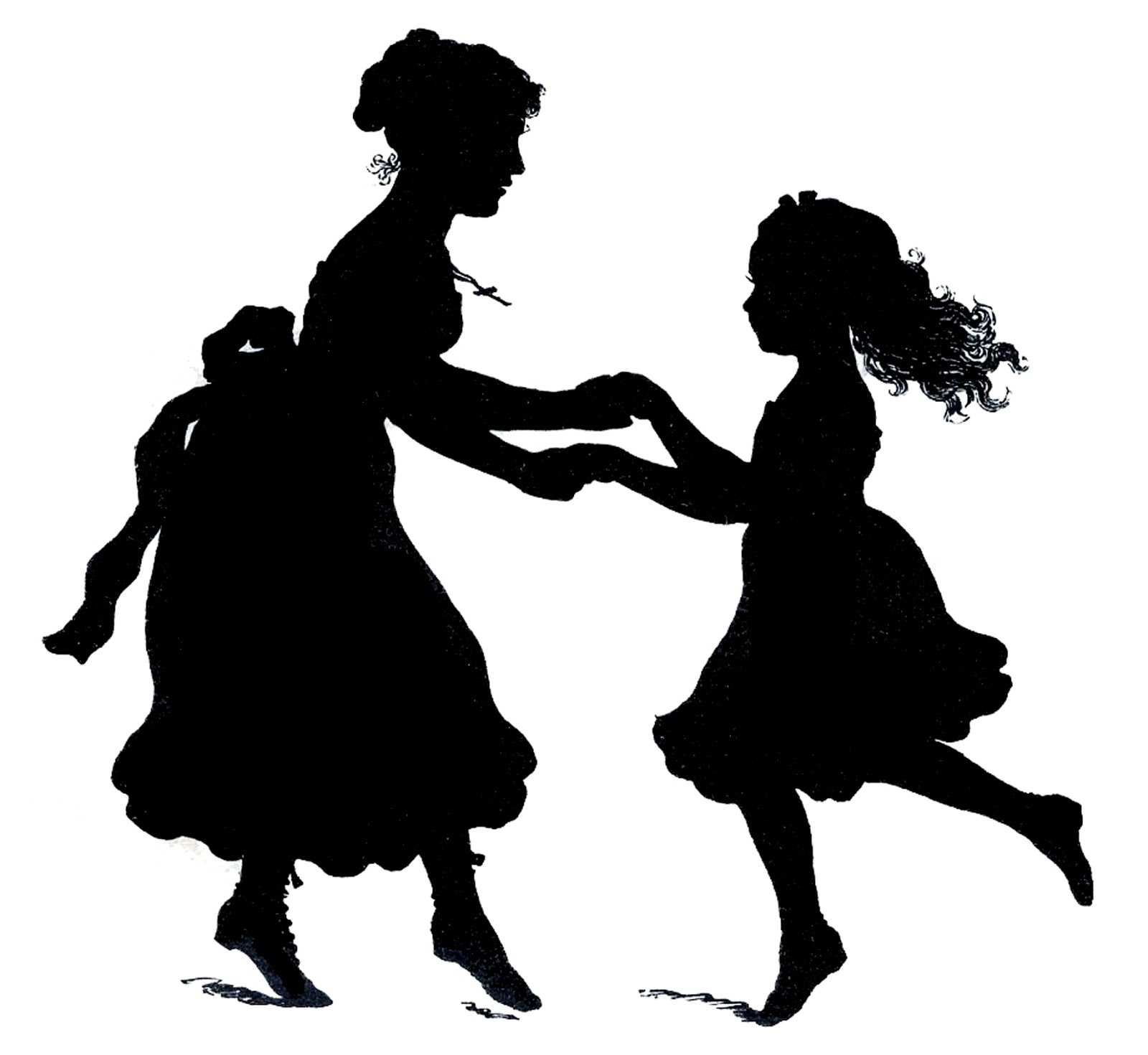 Vector Image Downloads Motheru0027s Day Silhouette - Mother And Daughter PNG