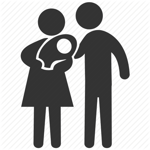 Baby, Family, Father, Infant, Mother, Newborn, Spouse Icon - Mother And Father PNG HD