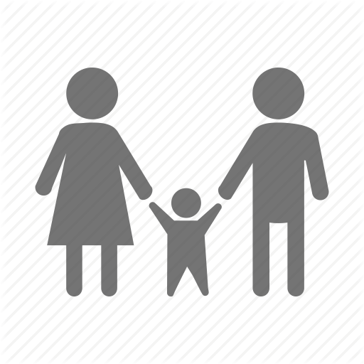 Dad, Family, Father, Happy, Kid, Mom, Mother Icon - Mother And Father PNG HD